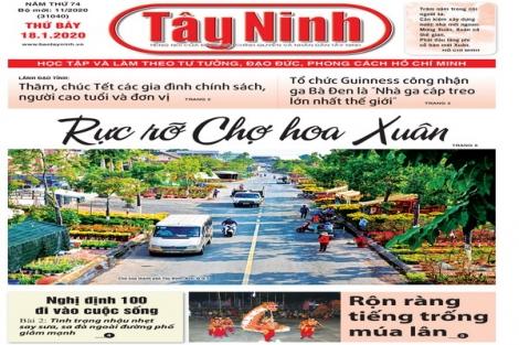 Điểm báo in Tây Ninh ngày 18.01.2020