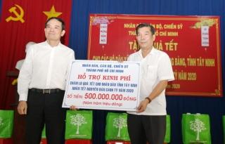 TP.Hồ Chí Minh tặng Tây Ninh 500 triệu đồng chăm lo Tết cho người nghèo