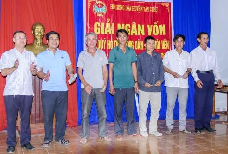 Quỹ hỗ trợ nông dân huyện Tân Châu giải ngân vốn cho hội viên nông dân