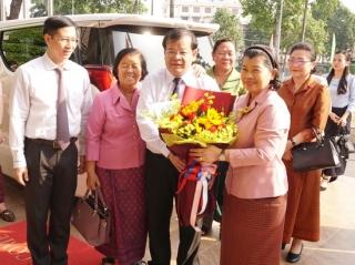 Phó Thủ tướng Chính phủ Hoàng gia Campuchia chúc tết lãnh đạo tỉnh Tây Ninh