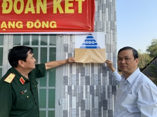 Châu Thành: Bàn giao 16 căn nhà ĐĐK cho người nghèo