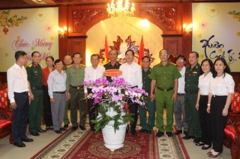 LLVT Tây Ninh chúc tết lãnh đạo tỉnh