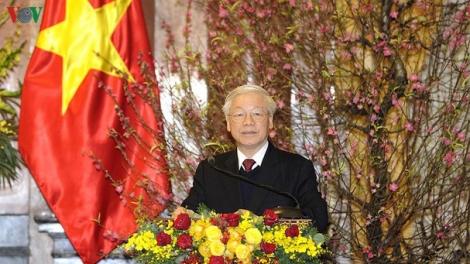 Tổng Bí thư, Chủ tịch nước Nguyễn Phú Trọng chúc Tết các lãnh đạo, nguyên lãnh đạo