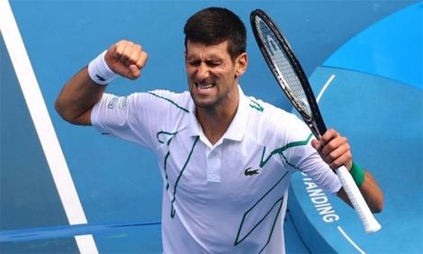 Djokovic lần thứ 11 vào tứ kết Australia Mở rộng