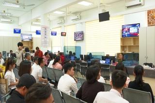 Trung tâm Hành chính công tỉnh trong ngày làm việc đầu năm