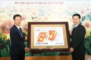Phát hành bộ tem 'Kỷ niệm 90 năm thành lập Đảng Cộng sản Việt Nam'