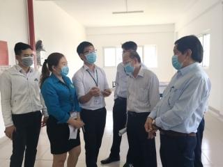 Kiểm tra công tác phòng, chống dịch bệnh do virus corona tại Trảng Bàng