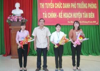 Tân Biên thi tuyển chức danh Phó Trưởng Phòng Tài chính- Kế hoạch huyện