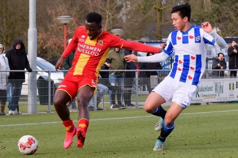 Đoàn Văn Hậu đá chính trong trận thắng của Jong Heerenveen