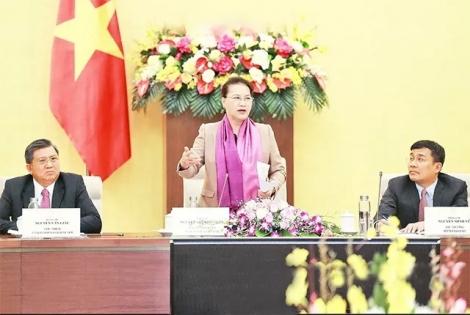Chủ tịch QH Nguyễn Thị Kim Ngân tiếp các đại sứ, trưởng cơ quan đại diện ngoại giao ở nước ngoài