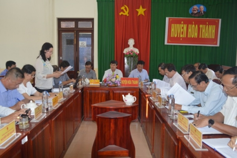 UBND Thị xã Hòa Thành tổ chức phiên họp thường kỳ tháng 2-2020