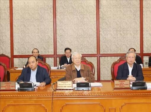 Chùm ảnh Tổng Bí thư, Chủ tịch nước chủ trì họp Bộ Chính trị