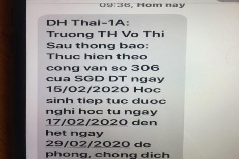Tây Ninh cho học sinh, sinh viên nghỉ học đến hết tháng 2.2020