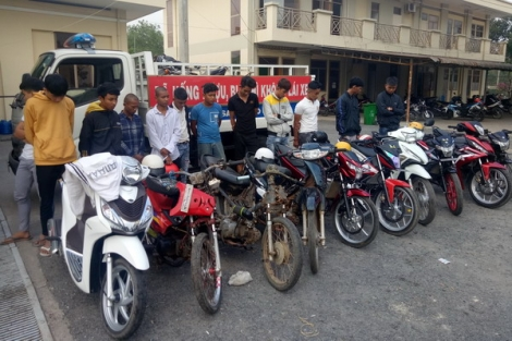 CATP.Tây Ninh bắt nhóm thanh thiếu niên đua xe trái phép