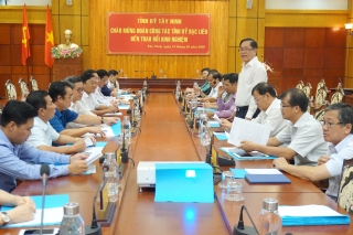 Đoàn công tác Tỉnh ủy Bạc Liêu thăm và làm việc tại Tây Ninh