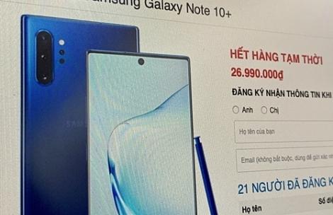 Galaxy Note 10, 10+ tăng giá