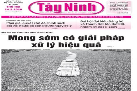 Điểm báo in Tây Ninh ngày 24.02.2020