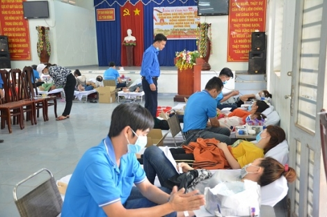 Tân Châu: Tiếp nhận gần 300 đơn vị máu hiến