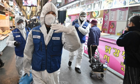 Số ca nhiễm nCoV ở Hàn Quốc tăng lên 833