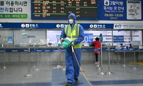 Số ca nhiễm Covid-19 ở Hàn Quốc tăng lên gần 1.300
