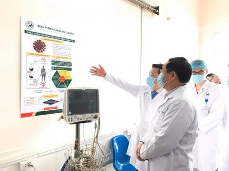 Bí thư Vương Đình Huệ kiểm tra bệnh viện chống dịch Covid-19