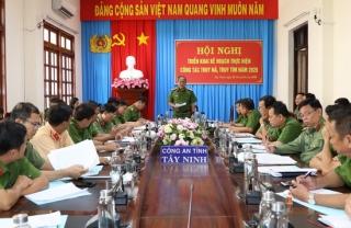Công an Tây Ninh triển khai kế hoạch thực hiện công tác truy nã, truy tìm năm 2020