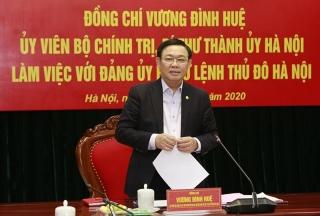 Ông Vương Đình Huệ làm Bí thư Đảng ủy Bộ Tư lệnh Thủ đô