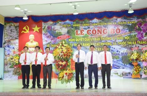 Công bố thành lập thị xã Trảng Bàng