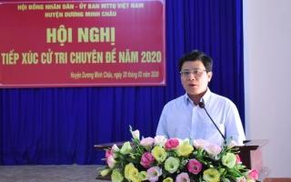 Huyện Dương Minh Châu: Tiếp xúc cử tri chuyên đề năm 2020