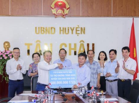 Xi măng Fico Tây Ninh tài trợ hơn 1 tỷ đồng cho huyện Tân Châu