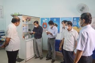 Hòa Thành: Kiểm tra công tác phòng dịch bệnh Covid-19 tại các trường học