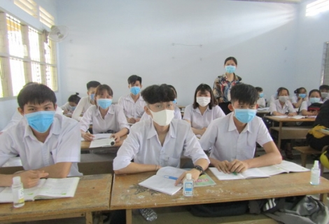 Tây Ninh: Hơn 97% học sinh THPT đi học trở lại