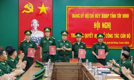 Biên phòng Tây Ninh trao các quyết định về công tác cán bộ