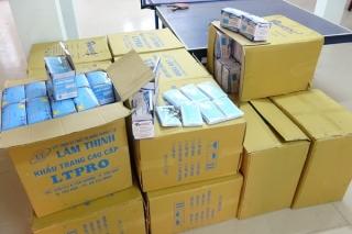 CA Bến Cầu: Tịch thu trên 40.000 khẩu trang y tế chuẩn bị vận chuyển qua Campuchia tiêu thụ