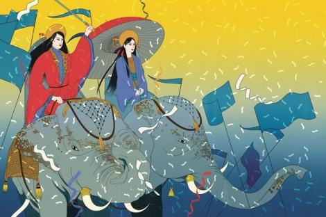 Hai Bà Trưng được sách Anh ca ngợi là những người phụ nữ thay đổi thế giới