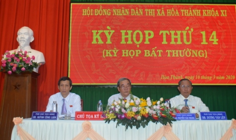 HĐND thị xã Hòa Thành tổ chức Kỳ họp lần thứ 14 (kỳ họp bất thường)