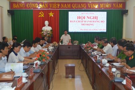 Hòa Thành: Hội nghị BCH Đảng bộ mở rộng