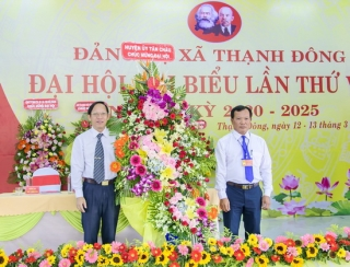 Đảng bộ xã Thạnh Đông huyện Tân Châu đại hội điểm nhiệm kỳ 2020-2025