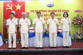 Tổ chức Đại hội chi bộ điểm tại Phòng An ninh đối ngoại, nhiệm kỳ 2020-2025