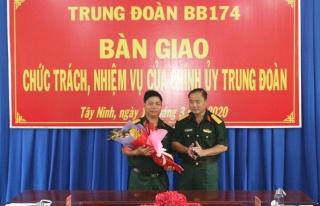 Trung tá Lê Phúc Diện được được bổ nhiệm làm Chính ủy Trung đoàn Bộ binh 174