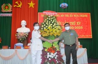 Đảng bộ Công an thị xã Hòa Thành tổ chức thành công đại hội điểm nhiệm kỳ 2020 -2025
