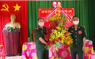 Chi bộ Đồn Biên phòng Suối Lam đại hội nhiệm kỳ 2020 - 2025