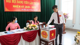Văn phòng Huyện ủy Gò Dầu tổ chức Đại hội đảng viên Chi bộ lần thứ XV, nhiệm kỳ 2020- 2025