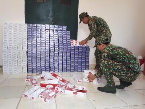 Đồn Biên phòng Mộc Bài: Bắt 4 vụ buôn lậu thuốc lá