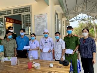 Châu Thành: Thăm các tổ chốt chặn phòng chống dịch covid-19 trên địa bàn huyện