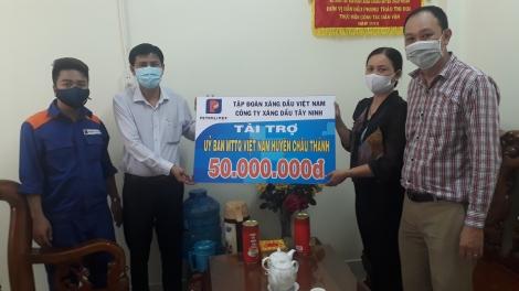 Công ty Xăng dầu Tây Ninh ủng hộ phòng, chống dịch Covid-19