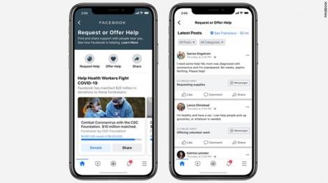 """Facebook phát hành tính năng """"trợ giúp cộng đồng"""" phòng chống COVID-19"""