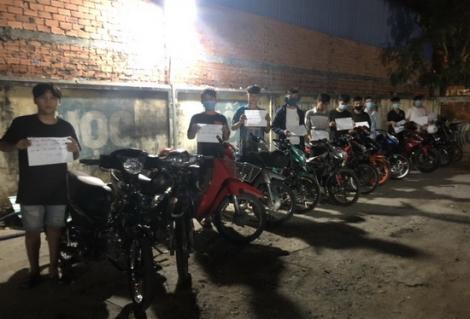 CA Gò Dầu: Bắt nhóm đối tượng đua xe trái phép
