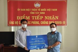 Viễn thông Tây Ninh ủng hộ 100 triệu đồng phòng, chống dịch Covid-19