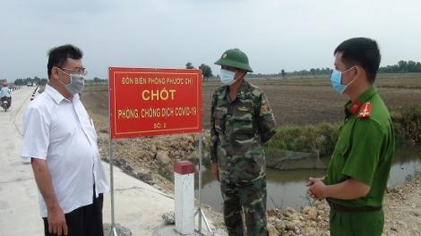 Trảng Bàng kiểm tra công tác phòng chống dich Covid-19 tại các chốt biên phòng